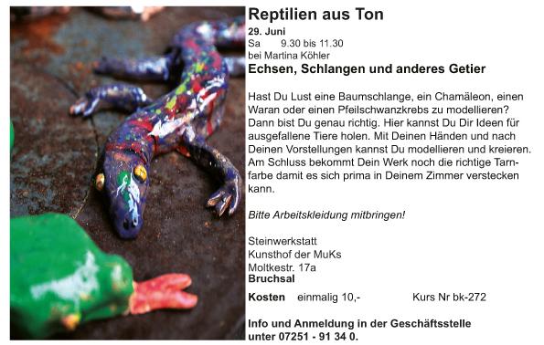 Ki_bk_Martina Köhler_Reptilien aus Ton_Echsen, Schlangen und andere Besonderheiten-2019-1