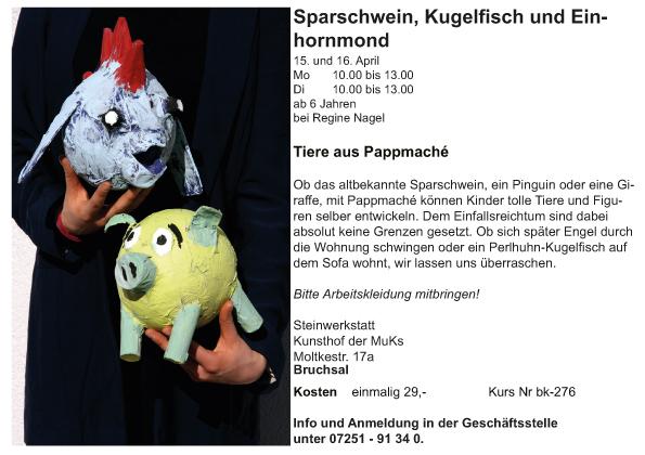 Ki_bk_Regine Nagel_Sparschwein oder Kugelfisch_Tiere aus Pappmache_2019-1