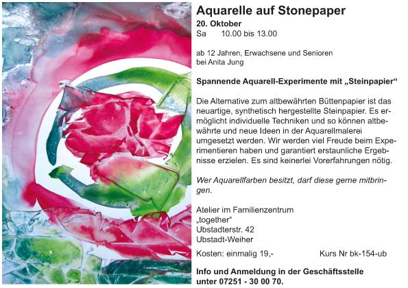 Aquarelle auf Stonepaper_Anita Jung_2018-2