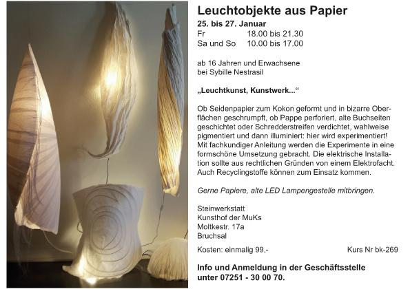 Er_Leuchtobjekte aus Papier_Sybille Nestrasil_2018-2